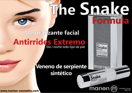 Display Cartel crema serpiente The Snake Formula